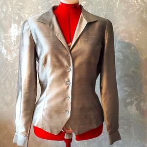 Dana Buchman 100% silk shirt size 8
